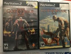 God Of War 1 And Ii The End Begins Sony Playstation 2 Ps2 Complete Set Lot 3 Discs