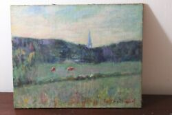 Antique 19th Century Oil Painting Signed