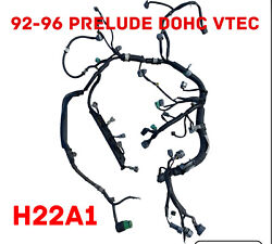 1992-1996 Honda Prelude Oem H22a1 Obd1 Dohc Vtec Engine Wire Harness 5 Speed M/t