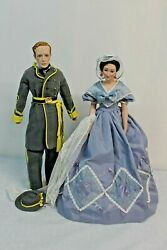 2 Gone With The Wind Dolls 'melanie And Asley Wilkes' Franklin Heirloom 1988