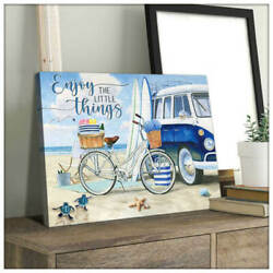 Beach and Turtle Enjoy the little things Canvas Wall Art Decor $33.00