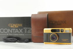 Rare 【unused】 Contax T2 Gold And Black T2 60th Anniversary Film Camera From Japan