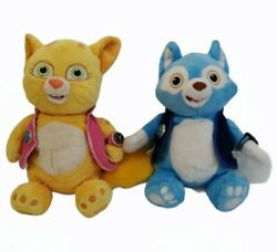 """Wolfie And Dotty From Special Agent Oso 16"""" Soft Plush Toys Disney Store Vgc"""