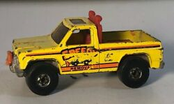 Hot Wheels 1979 Yellow Speedy Removal Snow Plow Truck Hong Kong Toy