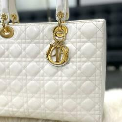 Christian Dior Lady Large Patent White _20545