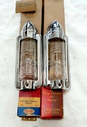 1946-1948 Plymouth Parking Lihgts Ring Bezels- Parking Lens Lamp Glass70