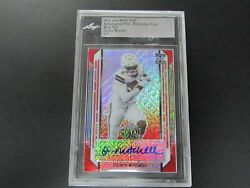 2021 Leaf Metal Draft Osirus Mitchell Pre-production Proof Auto Mojo Red 1/1