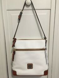 Dooney And Bourke Pebbled White Leather Shoulder Bag/ Crossbody New With Tags
