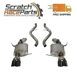Corsa Cat-back Exhaust System Quad Rear For 08-12 Bmw 3-series 304 Ss 14568blk