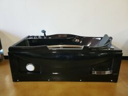 Black Computerized Hydrotherapy Whirlpool Jetted Massage Bathtub Spa + Heater