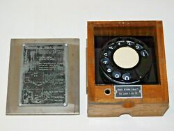 Antique Siemens And Halske Wwii Swiss Army Field Telephone Rotary Dial 32 Wood Box