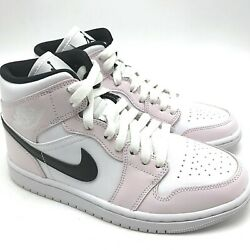 Nike Air Jordan 1 Mid Barely Rose W Womenand039s Shoes Bq6472-500 Size 6-10.5