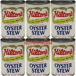 6 Cans Hilton's Oyster Stew Made With Fresh Milk And Butter 10 Oz Can Chowder