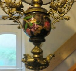 Victorian Library Oil Lamp Electrified Bronze Lady Sailing From Devon Manor
