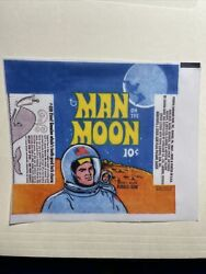 1969 Topps Man On The Moon Trading Cards Wax Wrapper Reprint