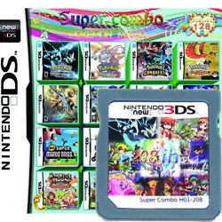 208 In 1 Multi Game Cartridge Pokemon For Nintendo DS NDSL 3DS 2DS Gifts Present $17.75