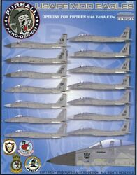 1/48 Furball Decal Air Force In Europe And The United States Usafe Of F-15a/c/d