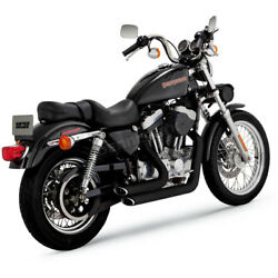 Vance And Hines Black Staggered Short Shots Exhaust System - 47223 No Ship To Ca