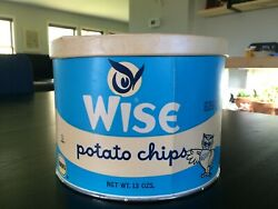 Vintage Wise Potato Chips Borden 13 Oz. Cardboard Container Wise Owl