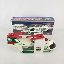 2001 Hess Truck Helicopter With Motorcycle And Cruiser Never Used