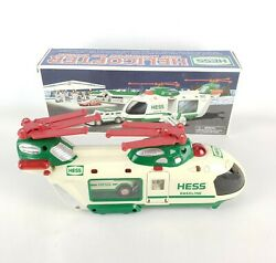 2001 Hess Truck Helicopter With Motorcycle And Cruiser No Lights