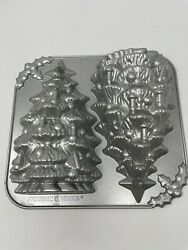 +nordic Ware 3d Christmas Tree Cake Pan 10 Holiday Cast Aluminum 9 Cups Usa