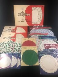 Lot Of 279 Vintage Paper Doilies Sealed And Open - Variety Of Sizes Place Mats
