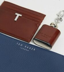 Ted Baker Hipp Set Coin Tray Card Holder And Flask Key Ring Nwt