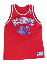 Vtg 90s Jerry Stackhouse 76ers Sixers Logo Champion Jersey Sz 48/xl Philly