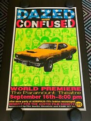 Dazed And Confused - Frank Kozik World Premiere Screen Print Poster - 1993 - Rare