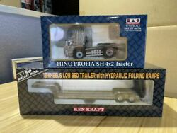 Ken Kraft Hino Profia High Roof Sh4 Tractor Gray Transport Trailers With