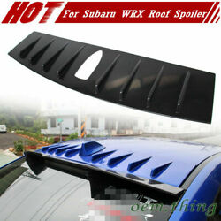2015+ Fit For Subaru Wrx 4th Rear Shark Fin Window Roof Spoiler Wing Painted