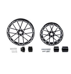 21 Front 18'' Rear Wheel Rim And Hub Fit For Harley Road King Glide 08-21 Non Abs