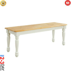 Wood Dinning Table Bench Seat Home Furniture Dining Room White Oak Color Seat