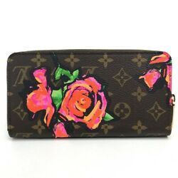 Louis Vuitton M93759 Monogram Rose Zippy Wallet Long There Is Coin Purse _18699