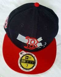 New Era 59fifty Mlb Boston Red Sox Sz 7 Fitted Reflective State Baseball Hat Cap