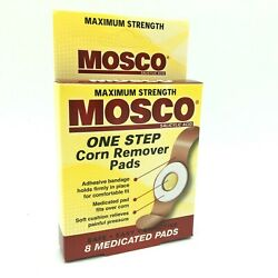 Mosco One Step Corn Remover Pads Maximum Strength Box Of 8 Medicated Pads Aug 21