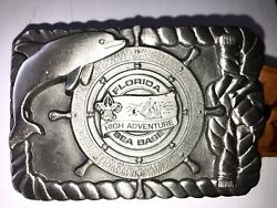 Boy Scout Of America Belt And Buckle Extremely Rare Fl Sea Base High Adventure