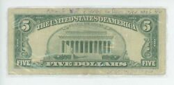 Judaica Rare 5 Bill Was Given From The Lubavitcher Rebbe Chabad