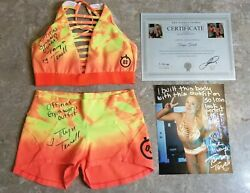 Taryn Terrell Official Gym Worn Outfit Signed Matching 8x10 Coa Photo Proof Wwe