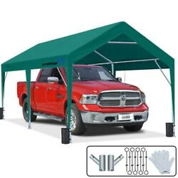 Peaktop Outdoor 10'x20' Car Shelter Boat Cover Shed Storage Carport Canopy Green
