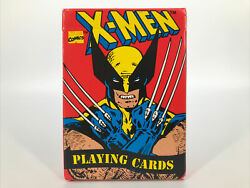 Vintage Marvel X-men Playing Cards 1993 Wolverine Cyclops X Men Complete In Box