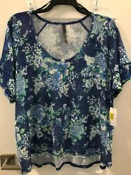 Jessica Simpson Floral Top / Blouse Size 2x  New With Tags