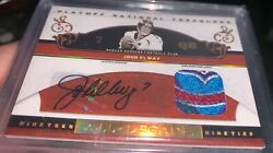 2007 Playoff National Treasures John Elway 75th Year Nfl Logo Patch Auto /25