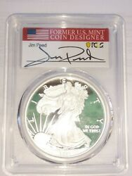 2021-w Proof Silver Eagle Type 1 Pcgs Pr70dcam Advance Release Peed Signed