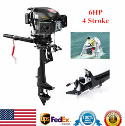 Hangkai 4 Stroke 6 Hp Outboard Motor Fishing Boat Engine W/ Air Cooling Usa