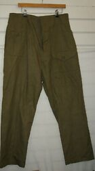 British Army Denim Trousers Green Size 8 Rare Post Ww2 Wwii New Unissued