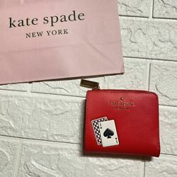 Kate Spade Razor Folded Wallet Purse Red Playing Cards Wlr00290 Accessori _85927