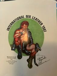 Rare 1987 Signed Etienne Iml International Mr. Leather Poster