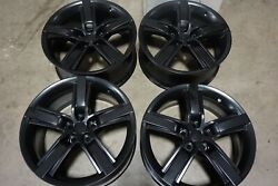 20 Chevy Camaro Ss Factory Oem Black Wheels Rims Reconditioned 5577 5582